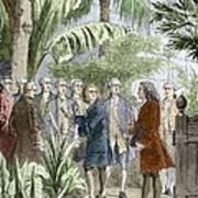 Linnaeus And De Jussieu, Botanists Art Print