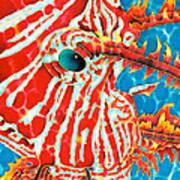 Lion Fish Face Art Print