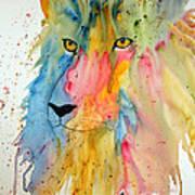 Lion Head 3 Art Print