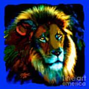 Lion Icon Art Print