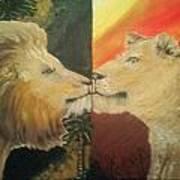Lion N Lionness Art Print