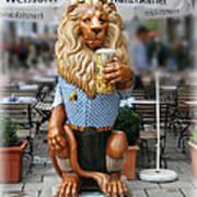 Lion Of Beer Art Print