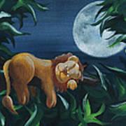 Lion Sleeps Tonight Art Print