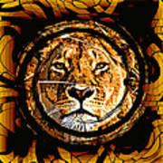 Lioness Face Art Print