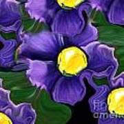 Liquid Violets Art Print