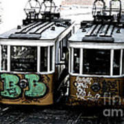 Lisbon Tram Art Print by Gabriel Calahorra