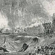 Lisbon Tsunami, 1755 Art Print