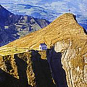 Little Chapel On The Mountain Art Print by George Oze