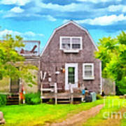 Little Cottage By The Sea Art Print