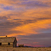 Little House On The Colorado Prairie 2 Art Print by James BO  Insogna
