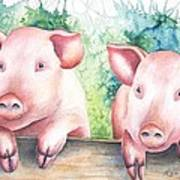Little Piggies Art Print