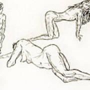 Live Nude Female No. 37 Art Print