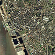 Liverpool, Uk, Aerial Image Art Print