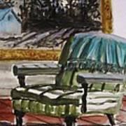 Living Room Moonrise Art Print