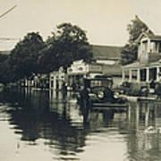 Livingston Manor - 1938 Flood Art Print
