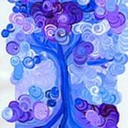 Liz Dixon's Tree Blue Art Print