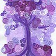 Liz Dixon's Tree Purple Art Print