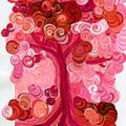 Liz Dixon's Tree Red Art Print