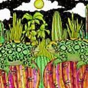 Lizards In Love Art Print
