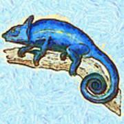 Lizzie Loved Lizards Art Print by Nikki Marie Smith