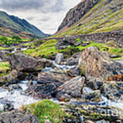 Llanberis Pass Art Print by Adrian Evans