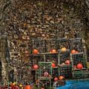 Lobster Pot Arch Art Print