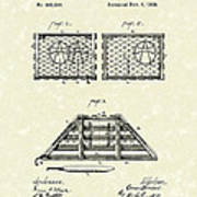 Lobster Trap 1888 Patent Art Art Print