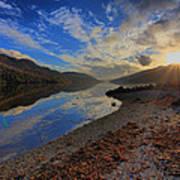 Loch Long As The Sun Sets Art Print