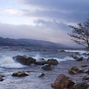 Loch Ness Shoreline At Dusk Art Print