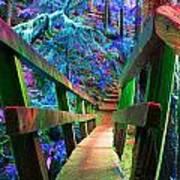 Log Bridges Art Print