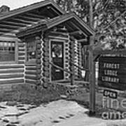 Log Cabin Library 11 Art Print by Jim Wright