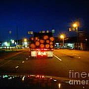 Logging Truck Ahead Art Print