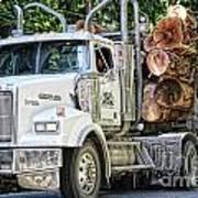 Logging Truck Art Print