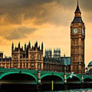 London - Big Ben And Parliament Art Print