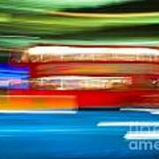 London Bus Motion Art Print