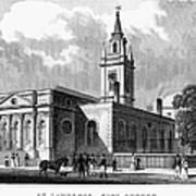 London: Church, C1830 Art Print