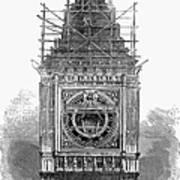 London: Clock Tower, 1856 Art Print
