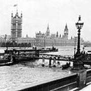 London England - House Of Parliament - C 1909 Art Print