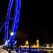 London Eye And London View Art Print