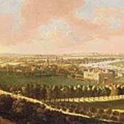 London From Greenwich Hill Art Print