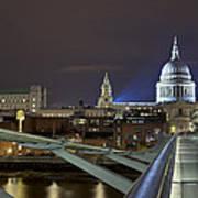 London Millennium Bridge Art Print