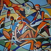 London Olympics Inspired Print by Michael Echekoba