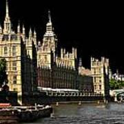 London Parliament Art Print