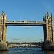 London Tower Bridge Looking Magnificent In The Setting Sun Art Print