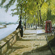 London Westminster Embankment Art Print