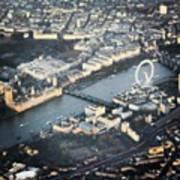 #londoneye #bigben #thetimes #river Art Print