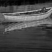 Lone White Boat In Nova Scotia Art Print