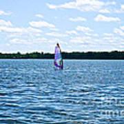Lone Wind Surfer Art Print