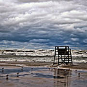 Lonely Lifeguard Chair 2 Art Print
