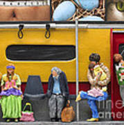 Lonely Travelers - Crop Of Original - To See Complete Artwork Click View All Print by Anne Klar